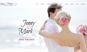 婚庆邀请函页面版式设计分层源文件