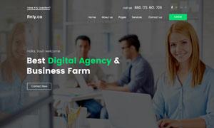 简约风格商务类型公司企业网站模板