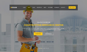 工程建筑公司网站页面设计分层模板