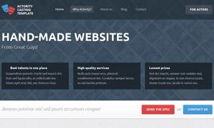 小微企業公司網站設計分層模板文件