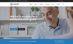 金融商務多用途的網站頁面設計模板