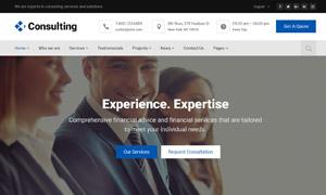 商業金融等主題公司網站設計源文件