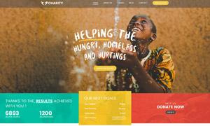 公益慈善类目网站图文版式设计模板