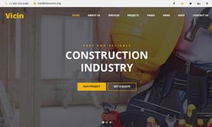 建筑與水暖工程等多種用途網站模板
