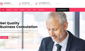 金融银行与保险公司等网站设计模板