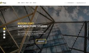 建筑設計公司網站頁面版式分層模板