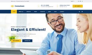 信息咨詢公司類型網站設計分層模板