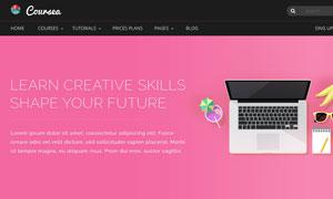 线上课程培训机构网站设计模板素材