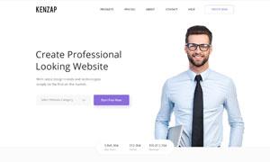 商务科技公司网站设计分层设计模板
