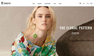 休閑時尚服飾線上商城網站設計模板