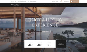 連鎖酒店預訂功能網站設計分層模板
