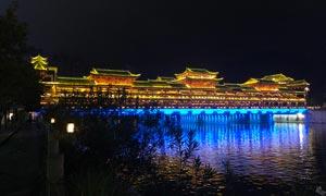 贵州西山大桥美丽夜景摄影图片