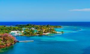 海边度假村旅游风光摄影图片