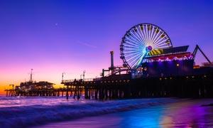 海边摩天轮美丽夜景摄影图片