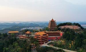 遂寧靈泉寺全景攝影圖片