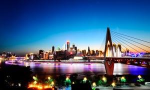 重庆璀璨的夜景风光摄影图片