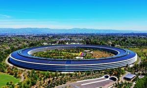 硅谷苹果公司总部全景摄影图片