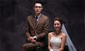 内景婚纱人物摄影主题高清原片素材