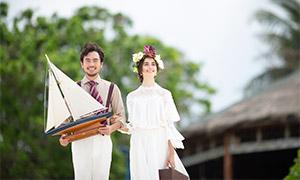 幸福笑容恋人婚纱主题摄影高清原片