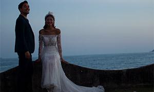 浩瀚大海外景婚紗人物攝影高清原片