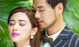 親密愛人人物婚紗攝影高清原片素材