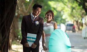 街边情侣人物外景写真摄影高清原片