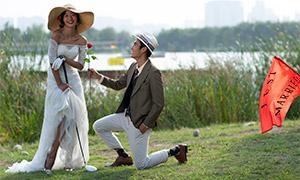 外景风光求婚场景婚纱摄影高清原片