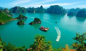 越南下龙湾山水美景摄影图片