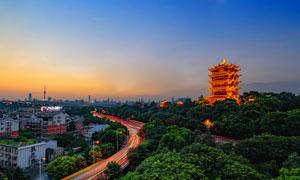 武汉黄鹤楼美丽夜景摄影图片