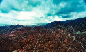 张掖丹霞地貌旅游摄影图片