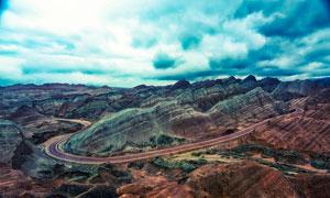 张掖丹霞地形地貌旅游摄影图片