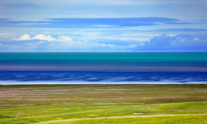 青海湖美丽风光摄影图片