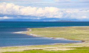 青海湖美麗風光高清攝影圖片