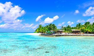 海边美丽的度假胜地摄影图片