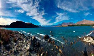 海岛和海边礁石摄影图片