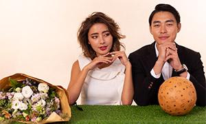 皮球鲜花布置婚纱人物摄影高清原片