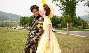 远山草地外景摄影婚纱高清原片素材