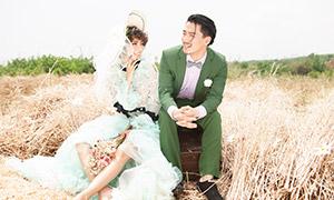 灿烂开心笑容美女帅哥外景婚纱原片