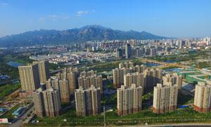 泰安城市全景摄影图片