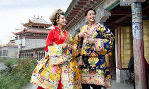 古建筑景区民族服饰婚纱照高清原片