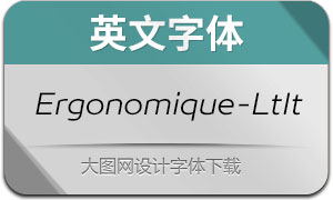Ergonomique-LightItalic(Ӣ������)