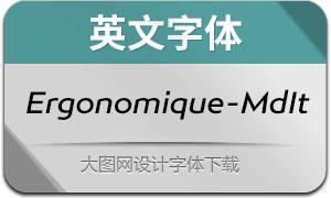 Ergonomique-MediumIt(英文字体)