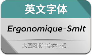 Ergonomique-SemiboldIt(英文字体)