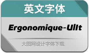 Ergonomique-UltraItalic(英文字体)