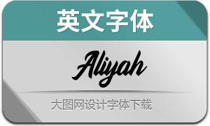 Aliyah(英文字体)
