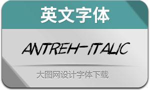 Antreh-Italic(英文字体)