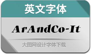 ArAndCo-Italic(英文字体)