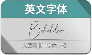 Beholder(英文字体)