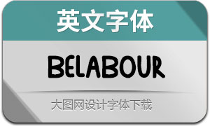Belabour(英文字体)