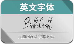 BerthaCastel-Regular(英文字体)
